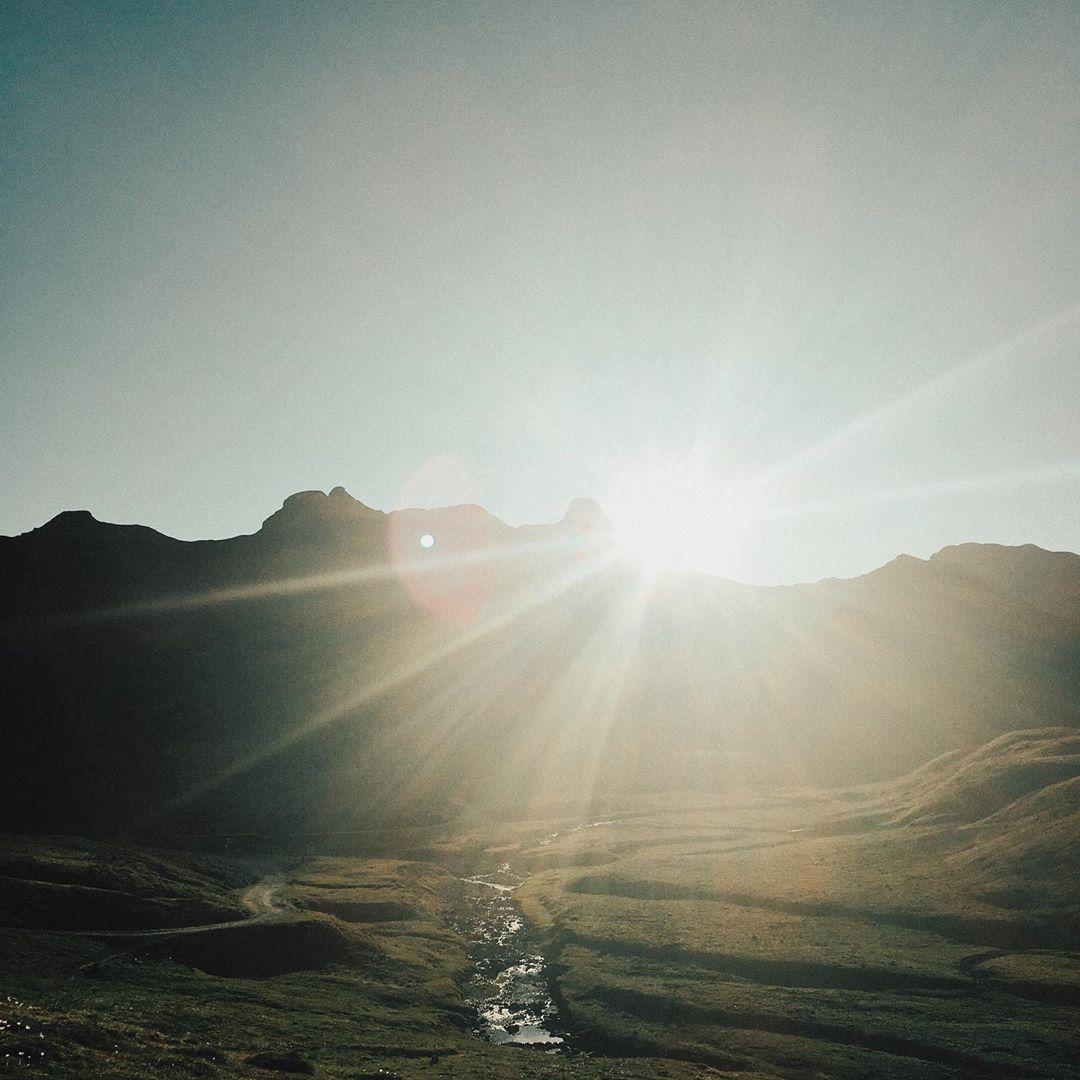 Mariana Prados sun light grass countryside mountain